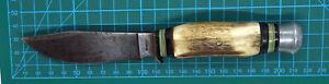 Dolch / Messer mit Hirschgeweih-Griff / Horn - Jagd / Jäger