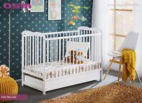 Babybett Kinderbett Gitterbett Beistellbett + Matratze + Schublade ALA II 120x60