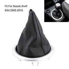 1Pc Manual Transmission Gear Shift Lever Boot Cover Black For Suzuki Swift SX4