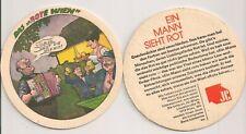 """Junge Generation (der SPÖ) - alter Bierdeckel """"Ein Mann sieht rot"""" - Motiv 1"""