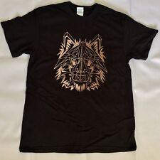NEW Wolf Geometric Polygon Wolf Animal Print Graphic T Shirt Mens Size M BLACK