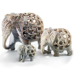 Hand Carved Soapstone Elephant Ornament