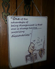 Winnie The Pooh Picture Quote Plaque , Sign. Solid Wood. Shabby chic gift. #P3