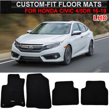 For Honda Civic Sedan Hatchback 16-19 Car Floor Mats Carpet Liner Front Rear