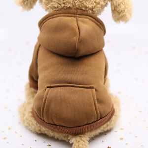 Solid Color Pet Dog Fleece Sweater Warm Dog Clothes Hoodie Soft Puppy Costume