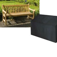 Garden 2 Seater Bench Cover, Durable & Washable, Black and Green Polyethylene