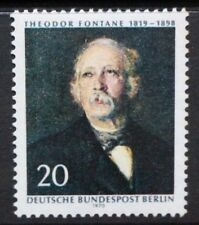 GERMANY BERLIN 1970 Writer Theodor Fontane. Set of 1. Mint Never Hinged. SGB344.