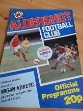 3.5.1980 Aldershot v Wigan Athletic programme Division four