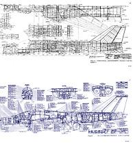 1970's General Dynamics F-111 Aardvark Jet blueprint plans tech drawings DETAIL