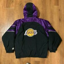 Los Angeles Lakers Starter Authentics NBA Hooded Jacket Plush Purple Black L
