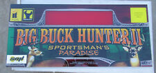 "big buck hunter 2  dedicated   26 -11 3/4"" arcade game sign marquee"