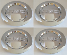 "4x Chrome Wheel Center Hub Cap Rim 20"" OEM GMC 07-14 Sierra 1500 Yukon Denali XL"
