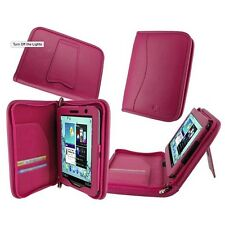 """rooCASE for Samsung Galaxy Tab 2 7"""" Executive Genuine Leather Magenta Lot C15"""
