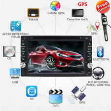 NEW GPS Navigation 2Din HD Car Stereo DVD CD Player Bluetooth Auto Radio Camera