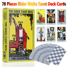 78Pcs Rider Waite Tarot Deck Cards Vintage Board Games English Full Version Game
