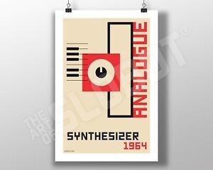 Analogue Synthesizer Minimal Bauhaus Art Electronic Synth Moog Roland Buchla