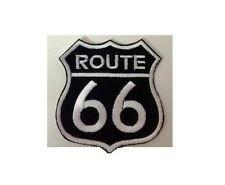 Patch Toppa Route 66 Nera/Bianca 9x9 CM x Giubbotti Gilet Giacche Idea Regalo
