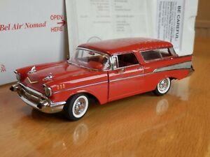 Danbury Mint 1957 Chevrolet Nomad Bel Air. 1:24. Certificate, Box. Excellent.