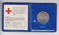 1987 NSW New South Wales Australia $10 UNC Silver Coin Part the State Series