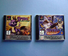 SPYRO 2 Gateway to Glimmer + 3 Year of the Dragon PlayStation 1 PS1 game kids
