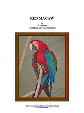 RED MACAW- cross stitch chart