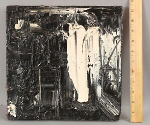 Small 1950s Vintage JOACHIM PROBST Expressionist Abstract Impasto Painting, NR