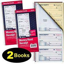 Adams and Rent Receipt Book 2-part Carbonless 5 1/4 X 11 Inch Detached Spiral