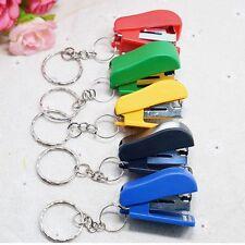 School Chain Staple Keychain Gift Stationery Office Supplies Mini Stapler