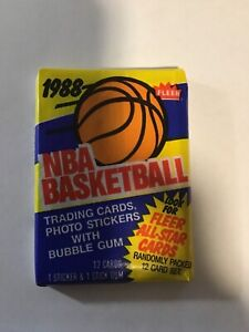 1988-89 Fleer Basketball Factory Sealed Wax Pack Possible Jordan Pippen Barkley