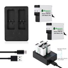 2x 1500mAh AHDBT-501 Battery & USB Dual Charger For GoPro Hero 6 Hero 5 Black