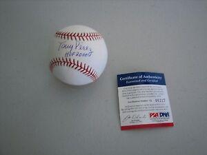 Tony Perez Autographed Signed OML Baseball W / HOF 2000 - PSA