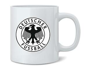 Germany Soccer Retro National Team Crest Coffee Mug Tea Cup 12 oz