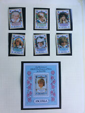 ANGUILLA PRINCESS DIANA 21ST BIRTHDAY COMPLETE STAMP SET