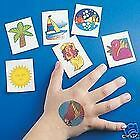 TROPICAL 11 Temporary Kids TATTOOS Party Favors Rewards