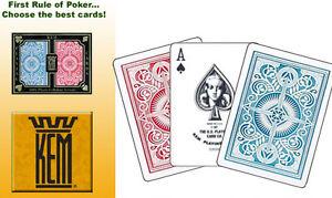 KEM ARROW PLAYING CARDS BRIDGE BLACK GOLD RED BLUE GREEN BROWN JUMBO STANDARD