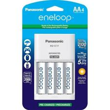 Panasonic Eneloop AA 2000 mAh NiMH Batteries with Charger, 4-Pack Batteries