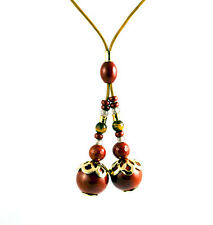 Click & Clack Mandala Necklace With Red Jasper