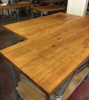 Wood Top Bakery Table 12Ft,11,10,8,6,4.almost all sizes, Maple top, High Quality