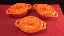 Lot de 3 mini cocottes Staub en céramique n° 11