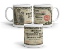 Vintage Coffee Gift Mug Collectible 11oz - Filipino Series of 1928 - 50 Pesos