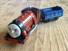 AS NEW TRACKMASTER MOTORIZED RARE HURRICANE & CARRIAGE THOMAS TANK TRAIN SET
