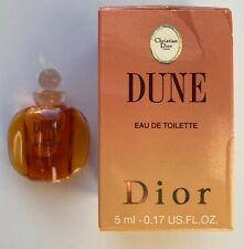Dior DUNE EAU DE TOILETTE 5 ml 0.17 FL OZ MINIATURE VINTAGE VIP GIFT