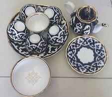 Uzbek Tea Set Teapot Piala Plate Handmade in Samarkand 1s
