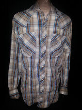 TRUE RELIGION Mens Long Sleeve Button Front Shirt Size Large Brown