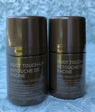 (2) AVON The Face Shop Root Touch-Up Covers Gray Oil-Free Wash-Off LIGHT BROWN