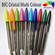 BiC Cristal Fun Original Fluo Ballpoint Pens Assorted Colours 1.6mm 10 Pens