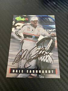 Dale Earnhardt CLASSIC NASCAR WINSTON CUP GOODWRENCH #3 1995 #1 autographed card