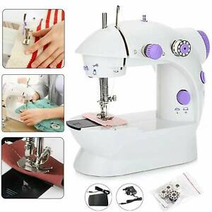 Electric Portable Mini Sewing Machine Stitch 2 Speed Foot Pedal LED Home DIY UK