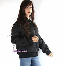 NWT Coach Quilted Bomber Coat Jacket Ocelot Leopard Lining F54128 XSmall Black