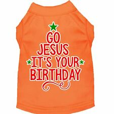 Mirage Pet Products Go Jesus Screen Print Dog Shirt Orange XS (8)